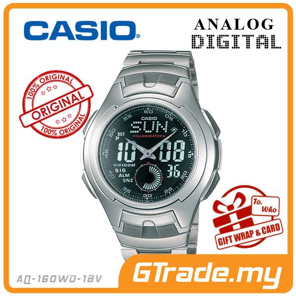 1e461df24de  READY STOCK  CASIO STANDARD AQ-160WD-1BV Analog Digital Watch