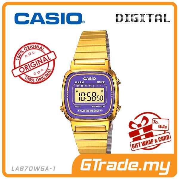 f2a3bc745a6  READY STOCK  CASIO STANDARD LA670WGA-6 Digital Ladies Watch