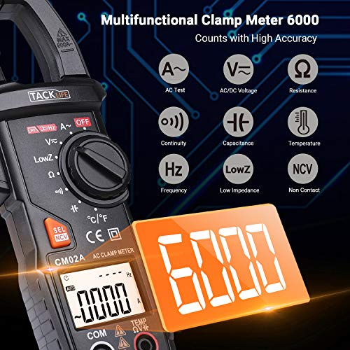 [ready stock] Clamp Meter, Digital Multimeter 600 Amp TRMS 6000 Counts NCV wit