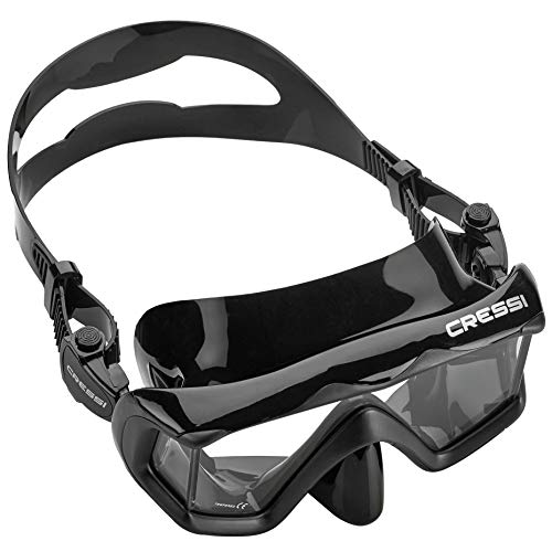 [ready stock] Cressi Panoramic Wide View Mask  & Dry Snorkel Kit for Snorkelin