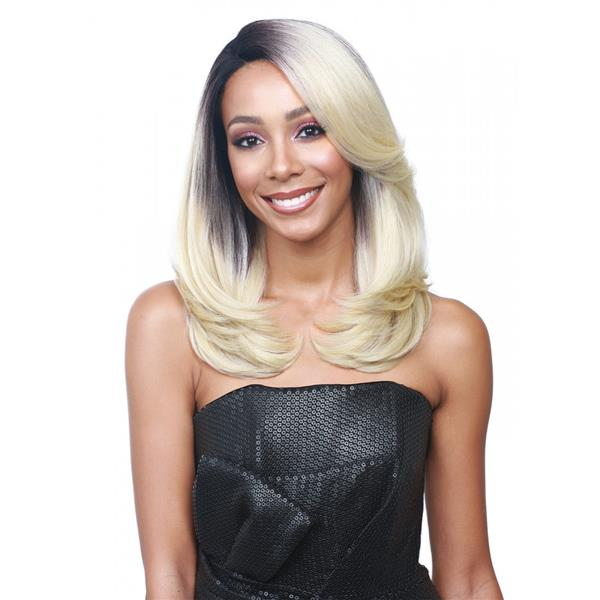 READY STOCK front lace wig 45-50cm black root medium wig