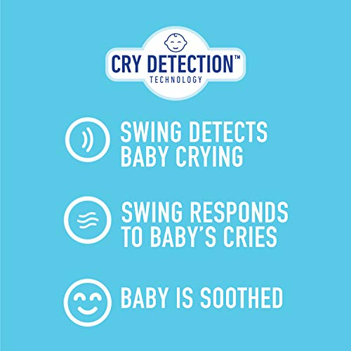 [ready stock] Graco Sense2Soothe Baby Swing with Cry Detection Technology, Sai