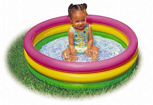 [ready stock] Intex 2.8ft x 10in Sunset Glow Inflatable Colorful Baby Swimming