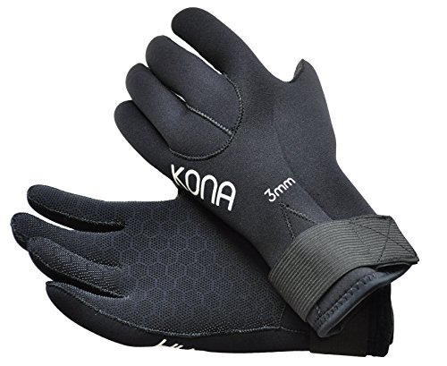 [ready stock] Kona 3mm Premium Double-Lined Neoprene Scuba Diving Gloves with