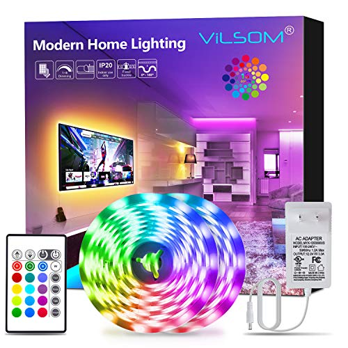 [ready stock] LED Strip Lights, ViLSOM 32.8ft RGB Led Light Strip with Remote