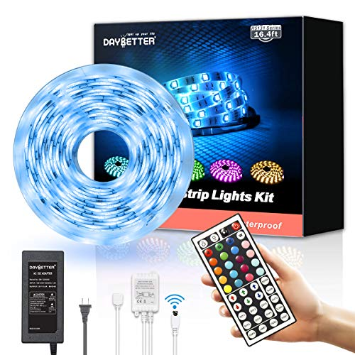 [ready stock] Led Strip Lights Waterproof 16.4ft 5m Flexible Color Changing RG