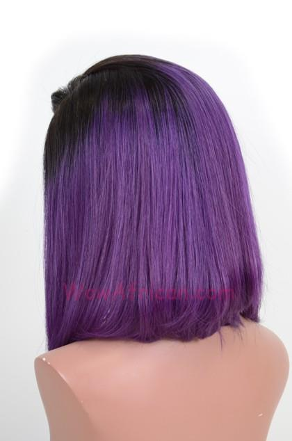 READY STOCK MEDIUM OMBRE PURPLE FRONT LACE WIG