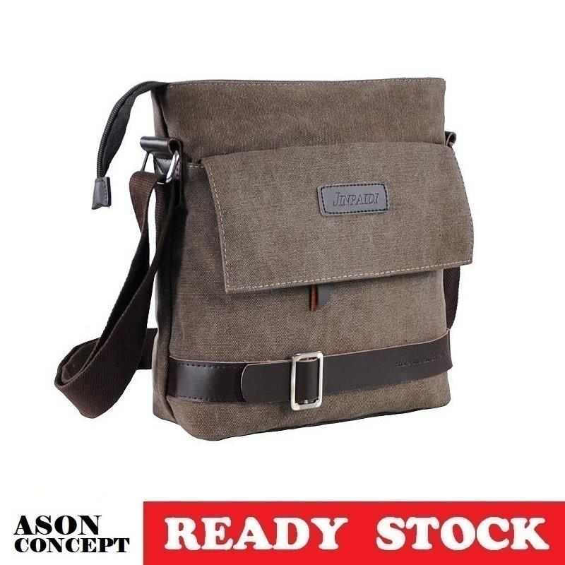 READY STOCK men bag sling bag shoulder bag 045 (BROWN)