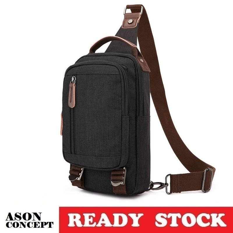 READY STOCK men bag sling bag shoulder bag 053 (BLACK)