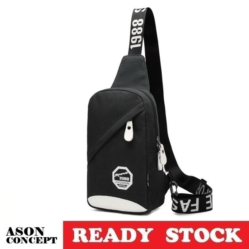 READY STOCK men bag sling bag shoulder bag 073 (BLACK)