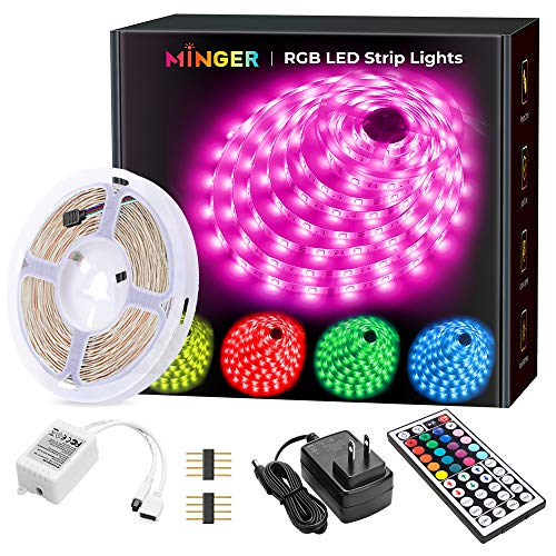 [ready stock] MINGER LED Strip Lights, 16.4ft RGB LED Light Strip 5050 LED Tap