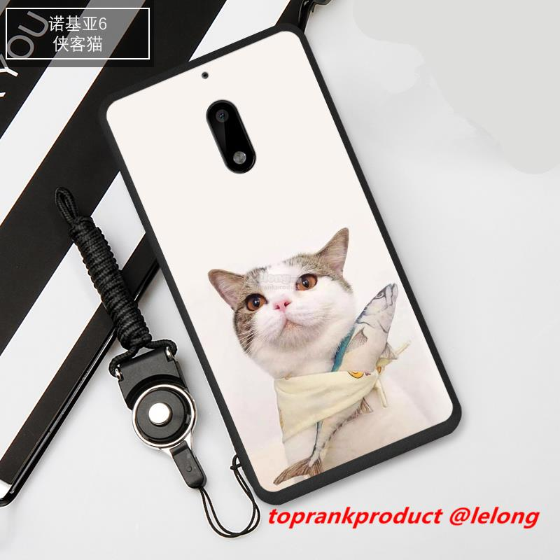 Ready Stock@ Nokia 6 Nokia6 Cat Silicone Back Case Cover Casing