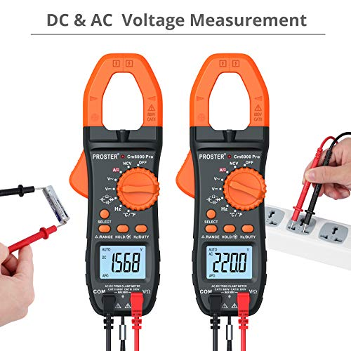 [ready stock] Proster 6000 Counts Clamp Multimeter Digital Auto-Ranging Tester