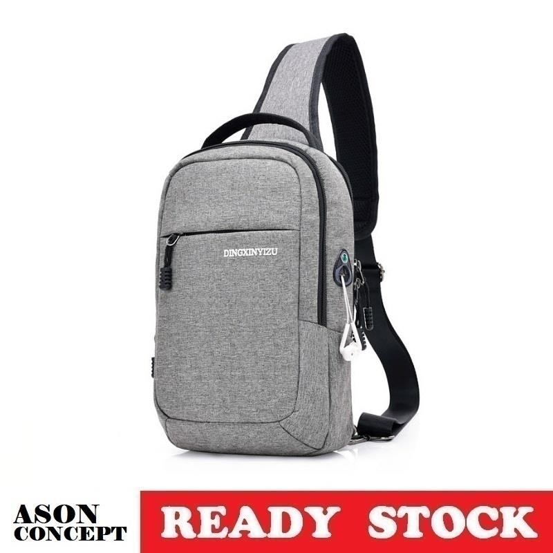 READY STOCK sling bag shoulder bag 048 (GREY)