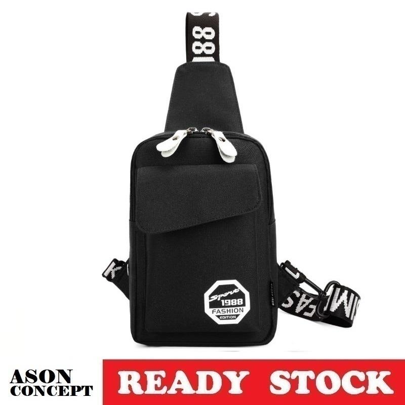 READY STOCK sling bag shoulder bag 070 (BLACK)