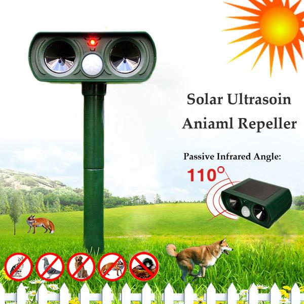 READY STOCK!  Solar Ultrasonic Animal Repeller Home Garden