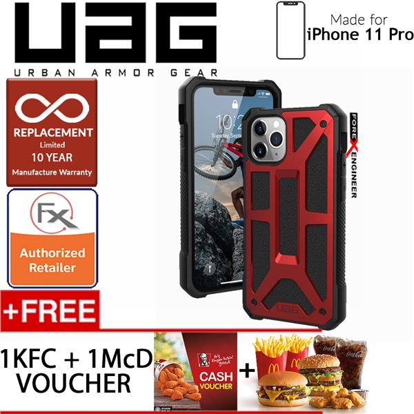[READY-STOCK] UAG Monarch for iPhone 11 Pro - Crimson color