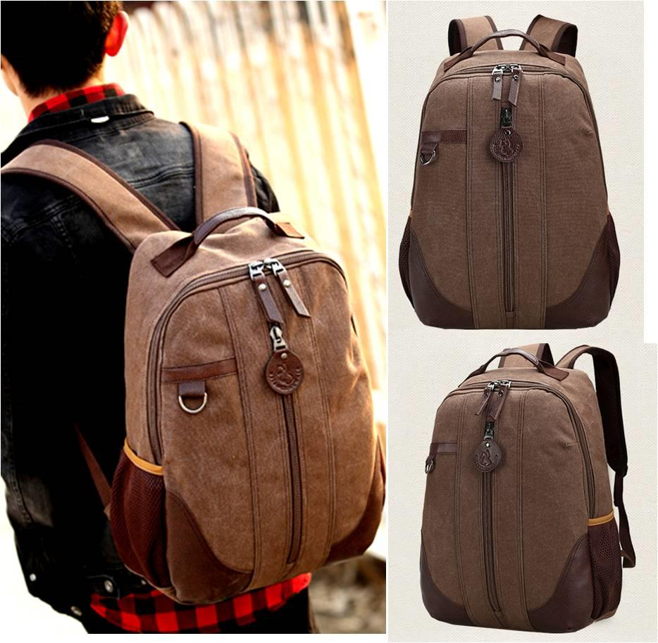 READY STOCK UNISEX CANVAS Backpack Bag school bag LAPTOP outdoor trave