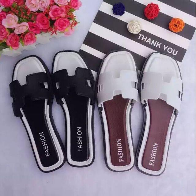 READY STOCK Women Fashion H Shaped Slipers Beach Slippers Sandal