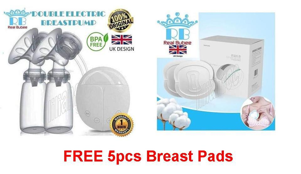 Real Bubee Electric Dual Breast Pump & Milk Storage Bag Lowest In Town