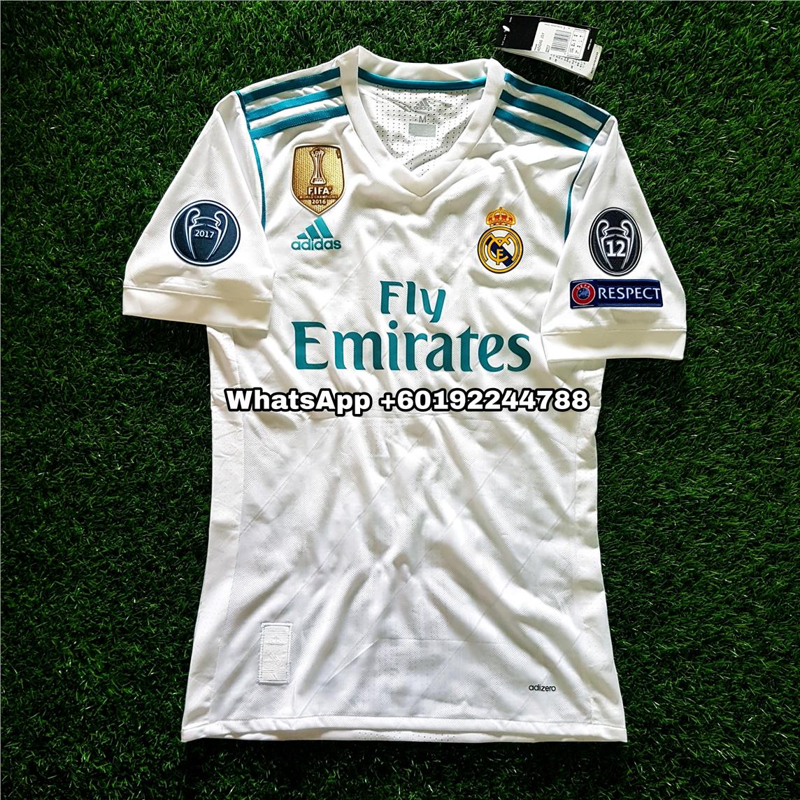 cff9a5319 REAL MADRID HOME JERSEY   JERSI 2017   18 FULL SPEC PATCH UCL. ‹ ›