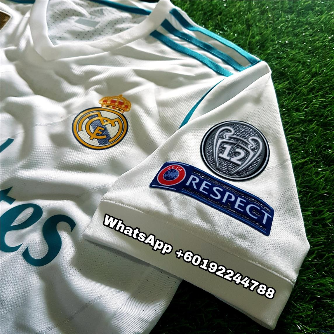 3ef73e2e96b REAL MADRID HOME JERSEY   JERSI 2017   18 FULL SPEC PATCH UCL