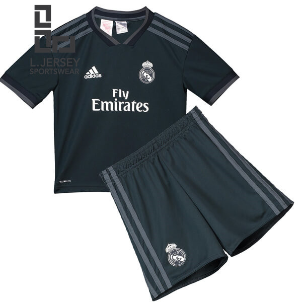 sports shoes 3aec2 41046 Real Madrid Kid Away 2018/19 Fans Jersey
