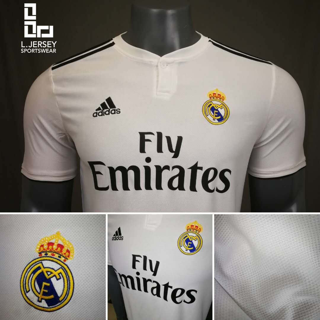 newest ee04e 2a165 Real Madrid Men Home 2018/19 Fans Jersey