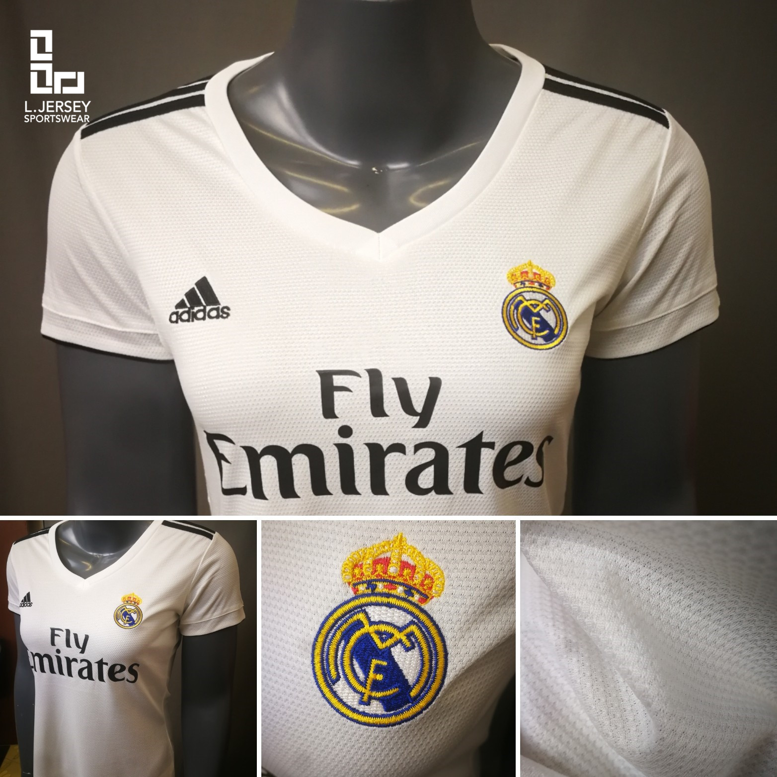 wholesale dealer 0517c 8ac40 Real Madrid Women Home 2018/19 Fans Jersey