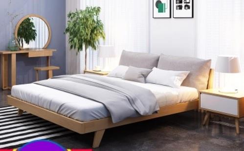 Real Wood Bed Frame Rack Bedroom Se (end 6/26/2019 12:15 PM)