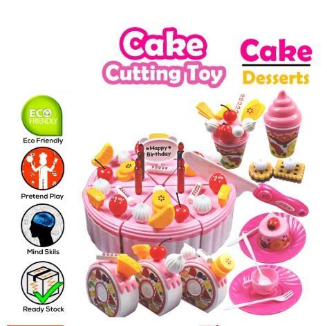 Realeos Pretend Play Birthday Cake Cutting Kid Toy