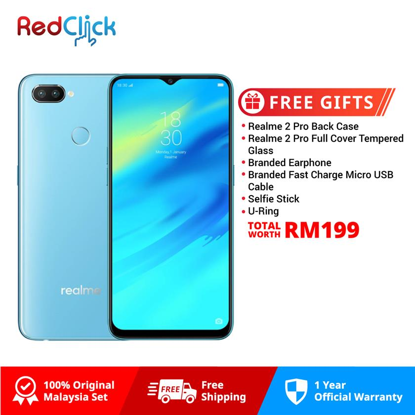 Realme 2 Pro (4GB/64GB) + 4 Free Gift Worth RM149