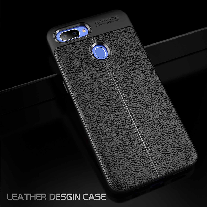 new styles d0aa3 b9c5f Realme 2 Pro TPU Soft Case Cover Casing HousingDermatoglyph Leather Gr