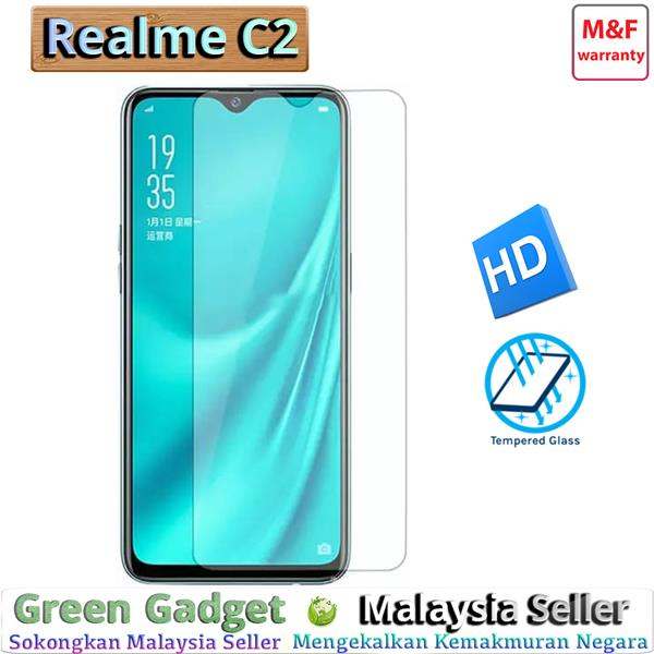Realme C2 Full Glue Screen Protector Tempered Glass 玻璃&#..