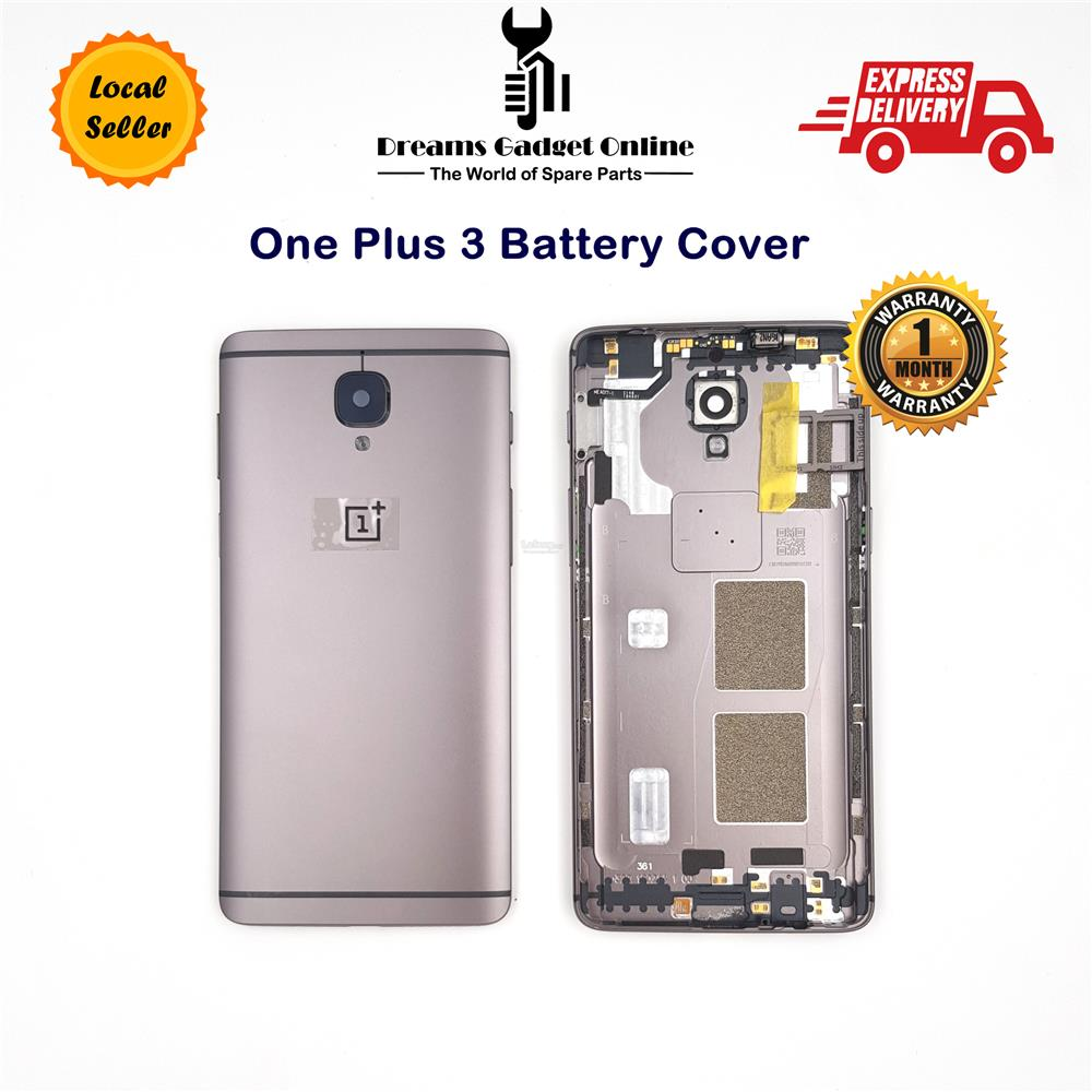 Rear Battery Cover for One Plus 3 with SIM Card Tray