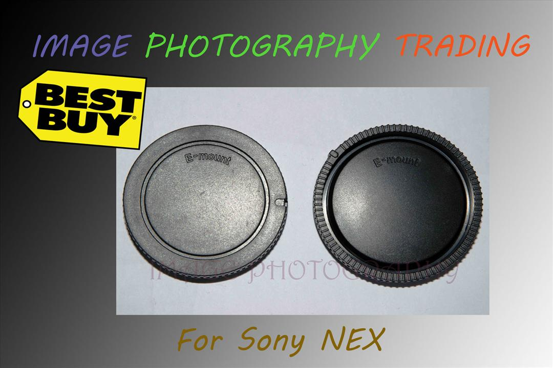 Rear Lens Cap and Camera Front Body Cover for Sony E-Mount NEX-3 NEX-5