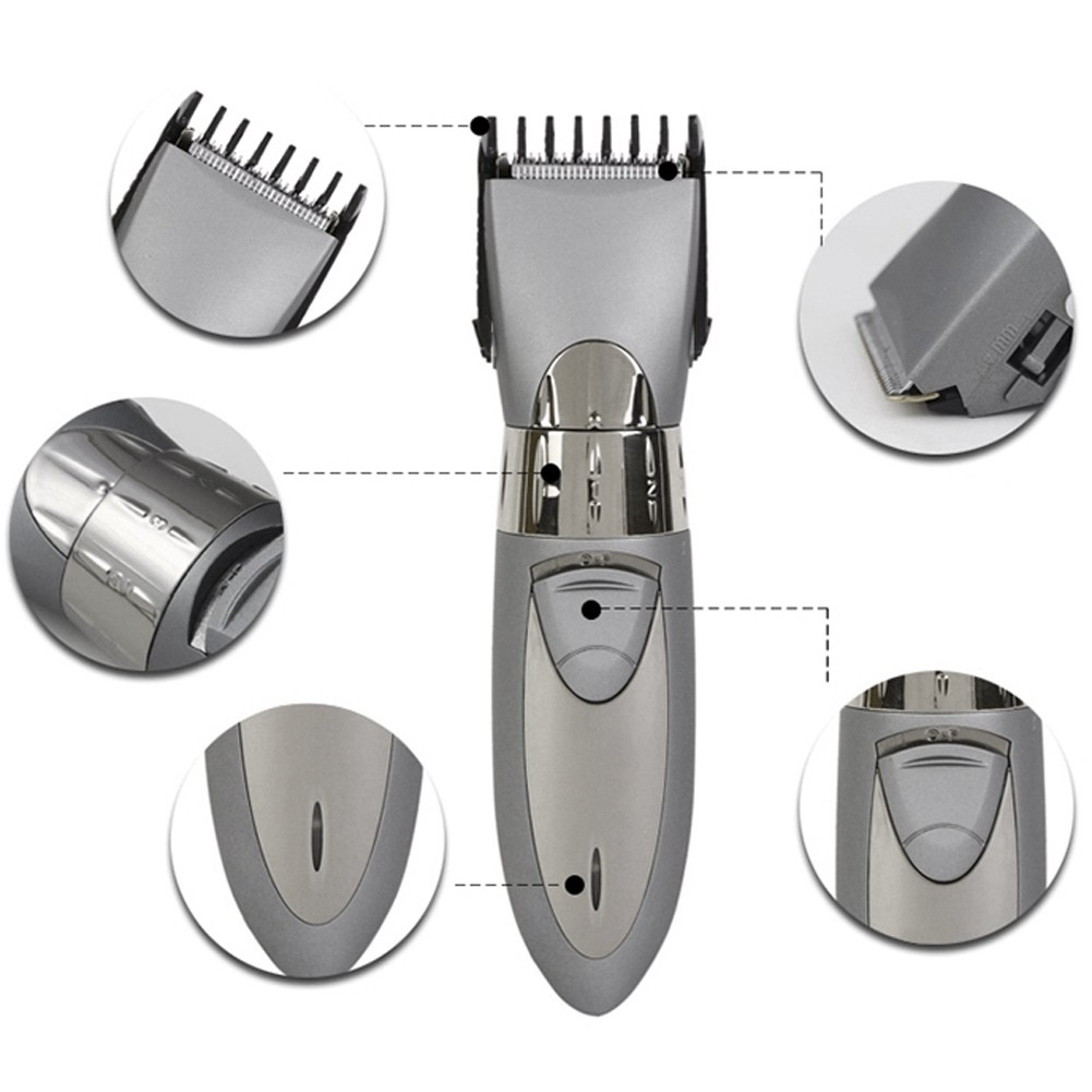 Rechargeable Electric Hair Cutter  & Beard Clipper Trimmer Pemotong Ra