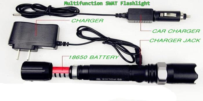 Rechargeable Multifunction SWAT Flashlight Zoom