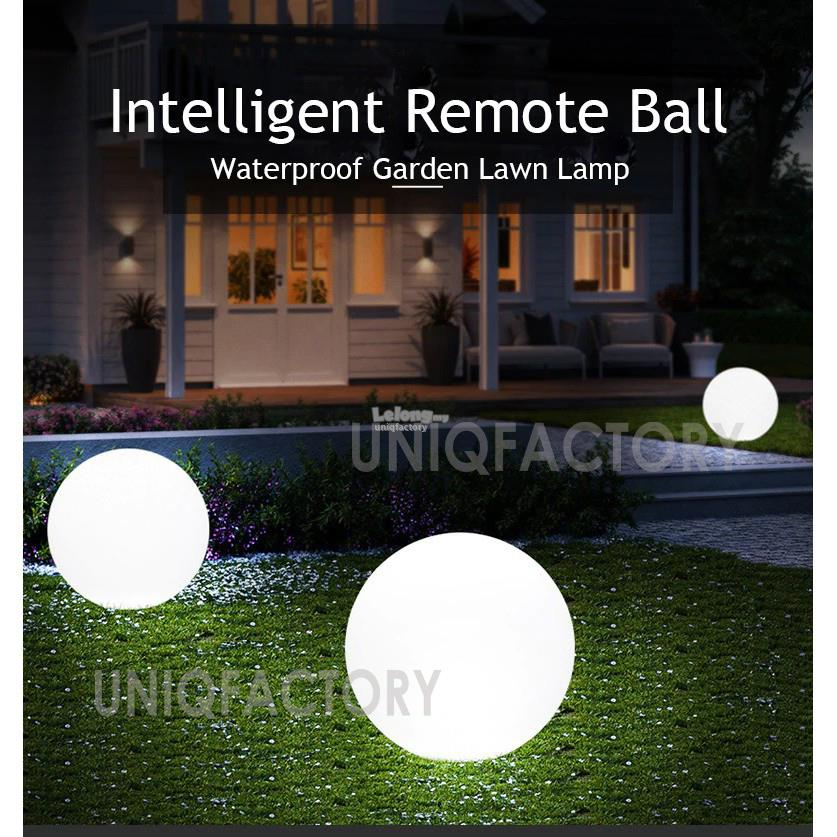 Rechargeable RGB LED IP65 Glow Globe Ball Pool Light Garden Outdoor