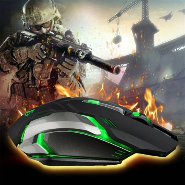 Rechargeable X7 Wireless Silent LED Backlit USB Optical Ergonomic Gaming Mouse