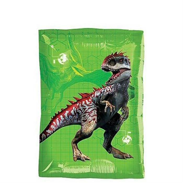 Rectangular Jurassic World Dinosaur Foil Balloon 12in x 17in 36340