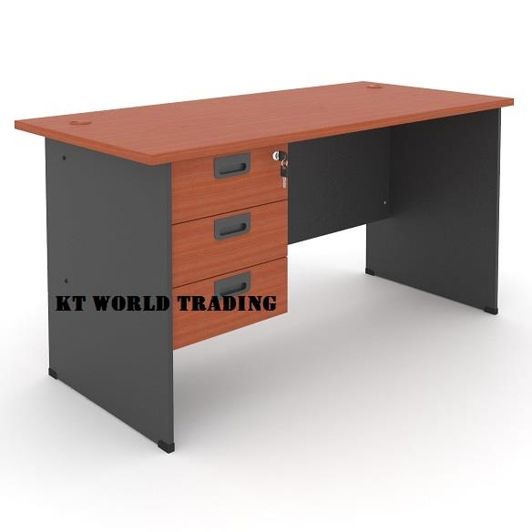Rectangular Office Table (Wooden Leg) Model : MP150WT-FP3