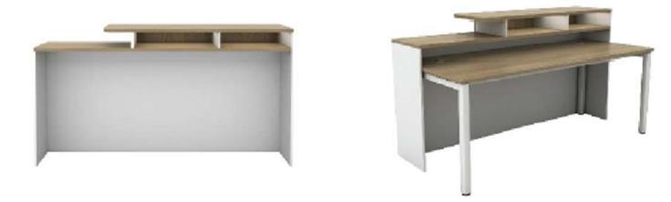 Rectangular Reception Counter SCT1800