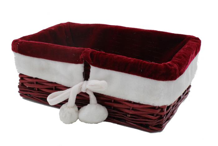 Red Basket with Velvet lining (Christmas design)