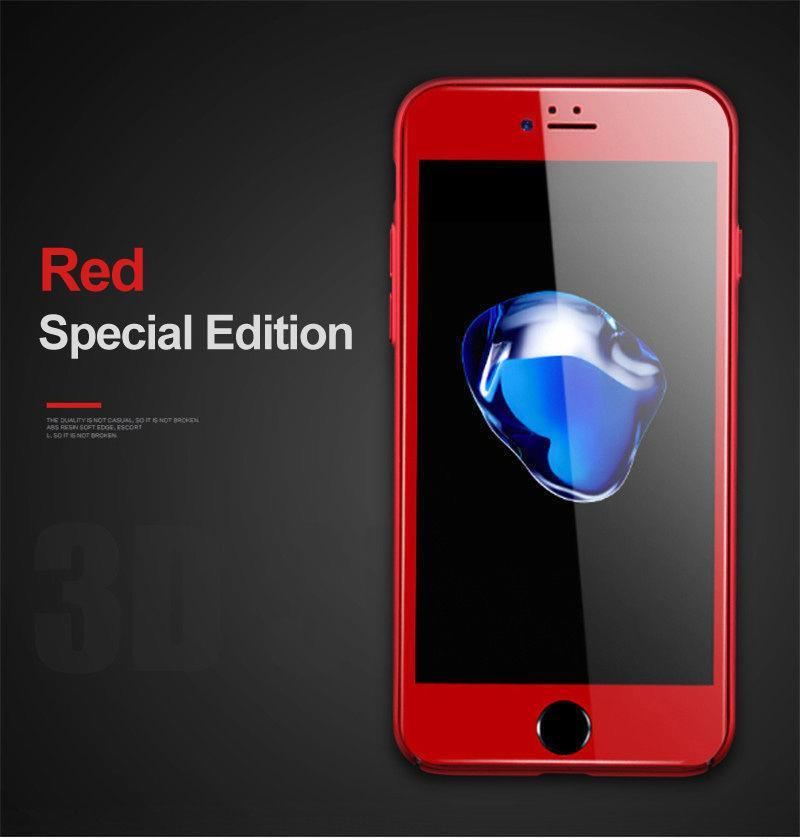 online store 5ff93 7e127 Red Edition Tempered Glass Screen Protector 5D HD iPhone 7/8 Plus