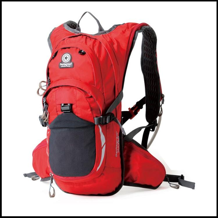 Red Hawk Pentagram Outdoor Travel Backpack - Free Water Pouch