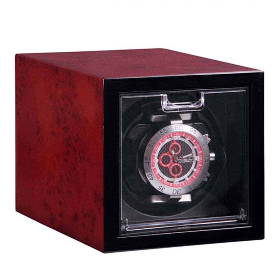 Red Luxury Automatic Single Watch Winder Watches Storage Display Box