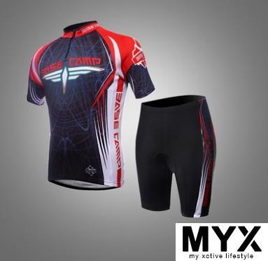RED Short Cycling Suit Shirt Jersey Clothing Bicycle Bike Riding