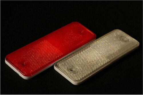 Red/White Oblong Rectangular Trailer Truck Reflectors Self-Adhesive