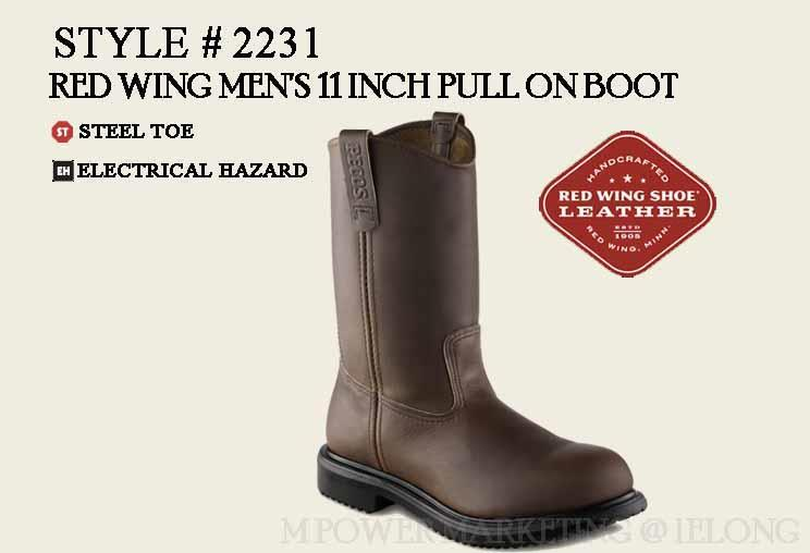 23b11e44701 RED WING 2231 MEN'S 11-INCH PULL-ON BOOT Safety Shoes Working Shoes